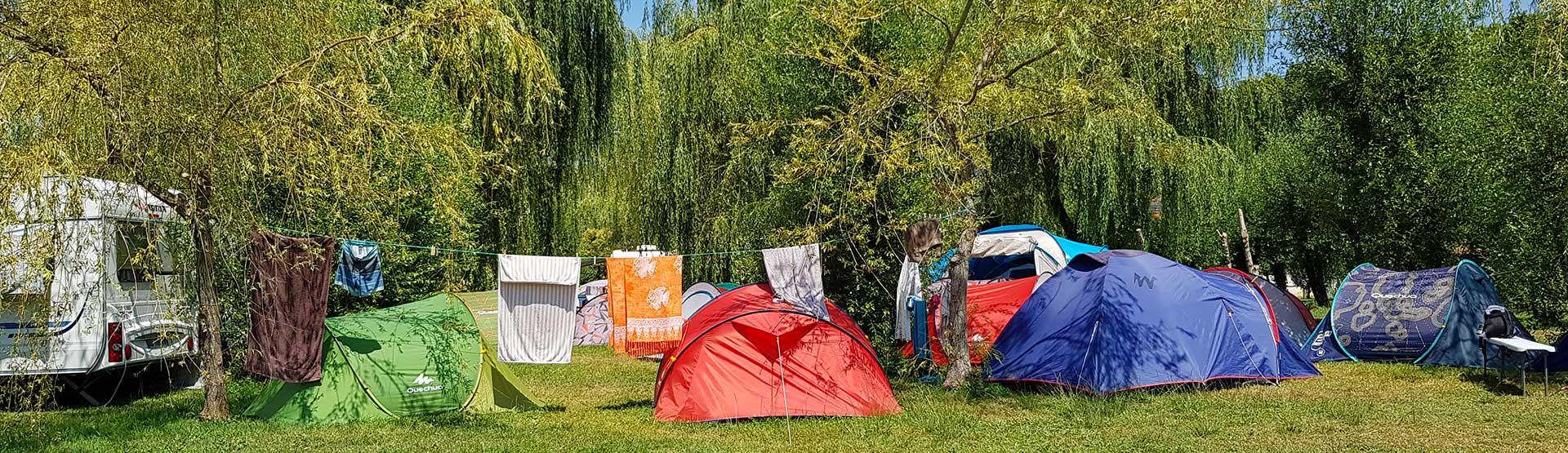 Camping La Dordogne Verte : Camping Toile De Tente