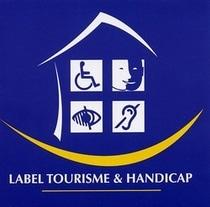 Camping La Dordogne Verte : Logo Tourisme Handicap